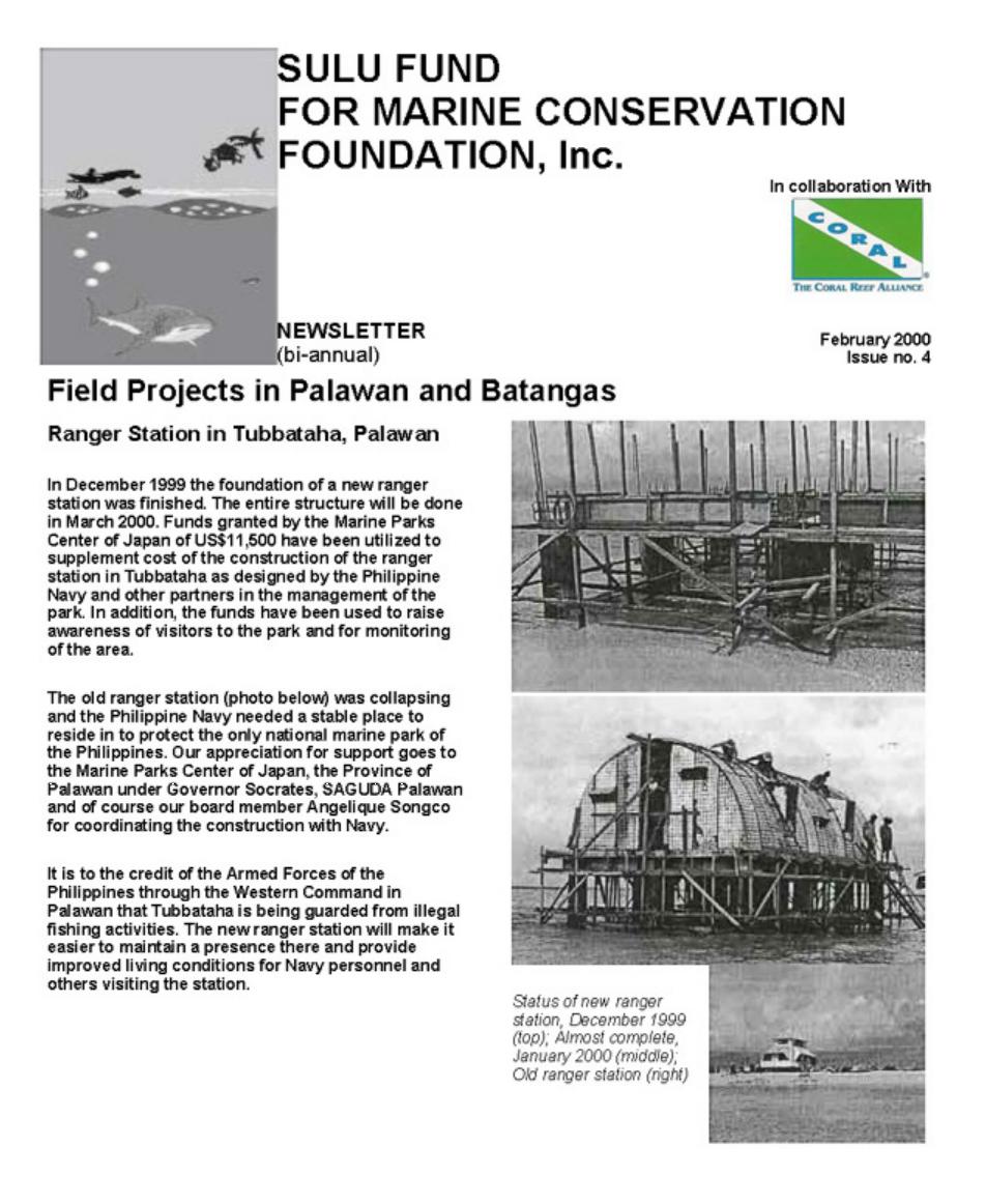 RANGER STATION IN TUBBATAHA, PALAWAN