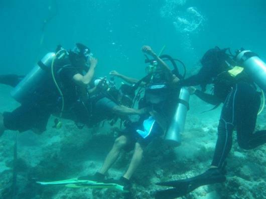 CCEF Scuba Divers trains for Rescue Diver Certification Upgrade